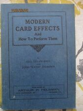 Modern card effects and how to perform them- Lawrence and Thompson 1920