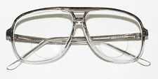 Classic 80's Tech Bifocal Reading Glasses Men's Large Gray Clear Ombre +3.50