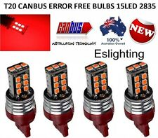 4 X T20 7443 RED LED DUAL FILAMENT CAR BRAKE STOP TAIL LIGHT BULB 12V UTE 4WD