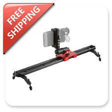 23'' Camera Video Slider Track Smartphone Shoulder Rig BallHead Friction Arm Kit