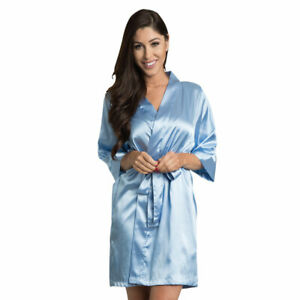 Blue Satin Kimono Robes | Dressing Gowns | Perfect for Sublimation Printers