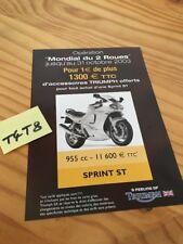 Triumph 955 Sprint ST salon 03 motorrad catálogo folleto publicidad prospekt pub