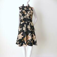 CUE  Sleeveless Dress  Zip Front Floral Fit and Flare   Size 10 US 6