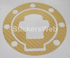 Adesivo Tappo Serbatoio SUZUKI GSX-R GSXR 600 750 1000 (Carbonio Oro) C.515