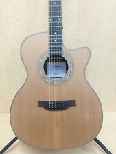 Klema K300JC-CE Solid Cedar Jumbo Acoustic Guitar Fishman with Bag