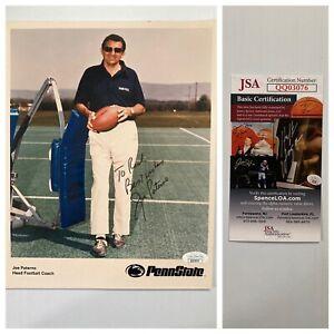 Joe Paterno Penn State Nittany Lions Signed Autograph 8x10 Photo JSA - FREE S&H!