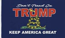 Trump ..KEEP AMERICA GREAT.. Don't Tread On Trump... 3' x 5' Flag..+ 1 Decal...