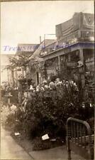 1920s Long Beach California Roadside Home Antique Shop Sidewalk Display Photo