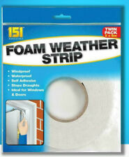 x2 Weather Foam Strip Draught Exculder Insulation Door Window Door Seal Tape