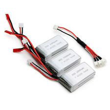 3pcs 7.4V 1000mAh 25C Lipo Battery + Cable for MJX X600 WLtoys V912 V915 US-CA