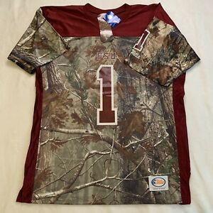 Florida State Seminoles Football Jersey Realtree Camo Men's Size Small Made USA