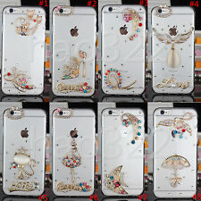 New Jewelled Rhinestone Bling Crystal Diamond Soft Gel Phone Case Cover Skin #B