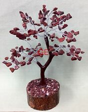 "8"" Red Jasper Tree Gemstone Crystal Gem Tree Feng Shui Luck Reiki Chakra Gift"