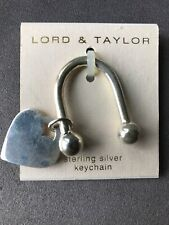 Lord & Taylor Sterling Silver Keychain With Heart - Marked 925