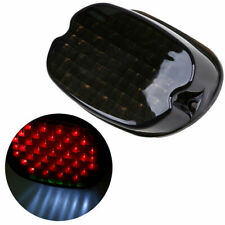 Motorcycle Smoked Lens Tail Rear LED Light Brake License Plate Light For Harley