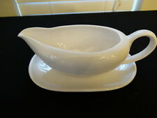 White Japan Stoneware Gravy Boat with Underplate