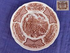 ALFRED MEAKIN Fair Winds Brown SALAD PLATE have more items to set