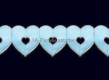 Herzgirlande blau L= 6 m Geburt Taufe Girlande Junge Boy Party Fest Feier