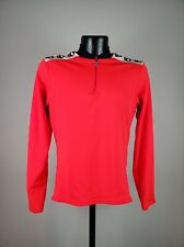 Men's Vintage Pearl Izumi Quarter Zip Red & Black Long Sleeve Cycling Jersey M