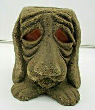 Bloodhound Dog Candle Vintage Stone