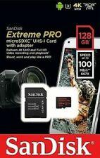 SanDisk 128GB Extreme Pro  micro SD XC Memory Card V-Class 30 U3 4K UHD 100MB/s