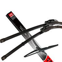 Front & Rear kit of genuine HQ Automotive Aero Flat Wiper Blades AD81-121|HQR13