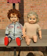 Vintage Astronaut Corky And Cricket Dolls With 1 Tape.