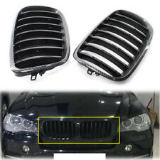 For BMW X5 X6 E70 E71 2008-2013 Carbon Style Frame Gloss Black Grill Car Grille