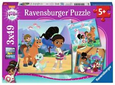 NEW! Ravensburger Nella the Princess Knight 3 x 49 piece jigsaw puzzle Age 5+