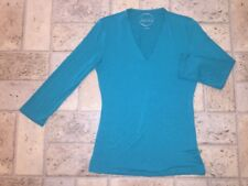 inc International Concepts 3/4 Sleeve V-Neck Top in Green Sz S Pic 3 for Color