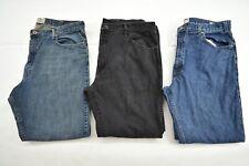 Wholesale Bulk Lot of 3 Mens 5 Pocket Dark Washed Denim Blue Jeans 40x32