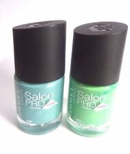 2 X Rimmel Salon Pro Nail Polish 12ml lycra BETHNAL GREEN + ITS LUSH