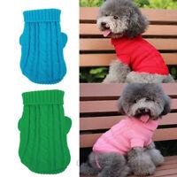 New Pet Cat Dog Puppy Warm Knit Coat Clothes Sweater Vest Jacket Apparel Costume