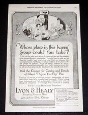 1919 OLD MAGAZINE PRINT AD, LYON & HEALY, VIOLIN, SAXOPHONE, MANDOLIN? CHOICE!