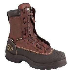 "🔥NEW! OLIVER 8"" Steel Toe Met Guard Black Brown Men Work Boot 65392🔥"
