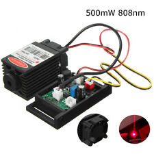 12V 500mW 808nm IR Red Dot Laser Engraving Module Diode with TTL Fan Cooling