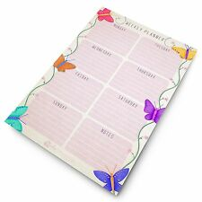 Monster A4 Weekly Planner - Butterfly Design - Things To Do Today - To Do Pad