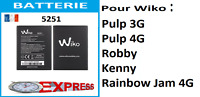 Batterie Wiko 5251 Pulp 4G / Pulp 3G / Robby / Kenny / Rainbow Jam 4G - 2500mAh