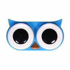 New CONTACT LENS CASE Owl Bird KIKKERLAND Home Travel Eye Care BLUE GREEN PINK