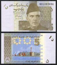 PAKISTAN 5 Rupees, 2009, P-53, Azam/Sea Port, UNC World Currency