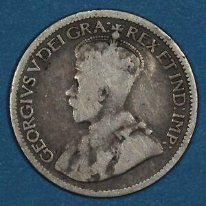1913 Canada 10 Cents silver coin, F, KM# 23