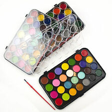 ACQUA di colore vernici e Brush Set di 28 COLORI Kids Art Craft artista BOX CASE DW
