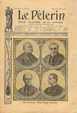 Portrait Archevêque France Mgr Luçon de Reims Mgr Enard à Auch 1905 ILLUSTRATION