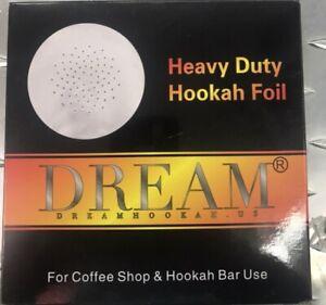 50 Pcs Dream Aluminium Foil With Hole Hookahs Tobacco Heavy Duty