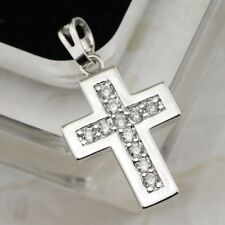 Crazy Hot Nice Cross White CZ Gems Jewelry Gold Filled Women Gift Pendants P212
