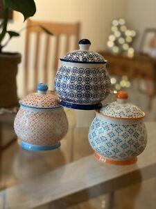 Beautiful Brand New Vintage Retro Patterned Sugar Bowl