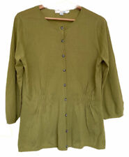 Boden Verde Lima Cardigan Suéter 100% Lana semi-fitted Joya Botones 14