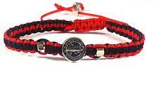 Saint Benedict Red and Black Bracelet/ Pulsera De San Benito + 1Free Gift