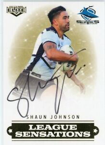 2019 Elite Shaun Johnson (Sharks) League Sensations Signature NRL Card # 44/90