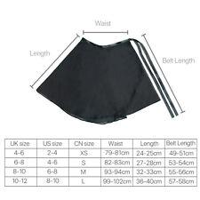 Chiffon Girl Ballet Tutu Dance Skirt Women Skate Wrap Scarf Dance Wear 4 Color Black M